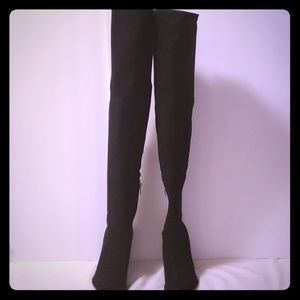 Marc Fisher Glitter Thigh High Boots 5M